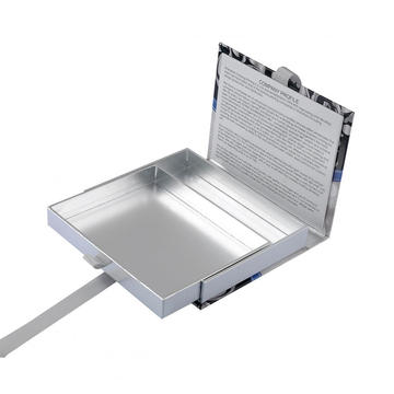 Silver Paper Display Box With Magnetic Closure